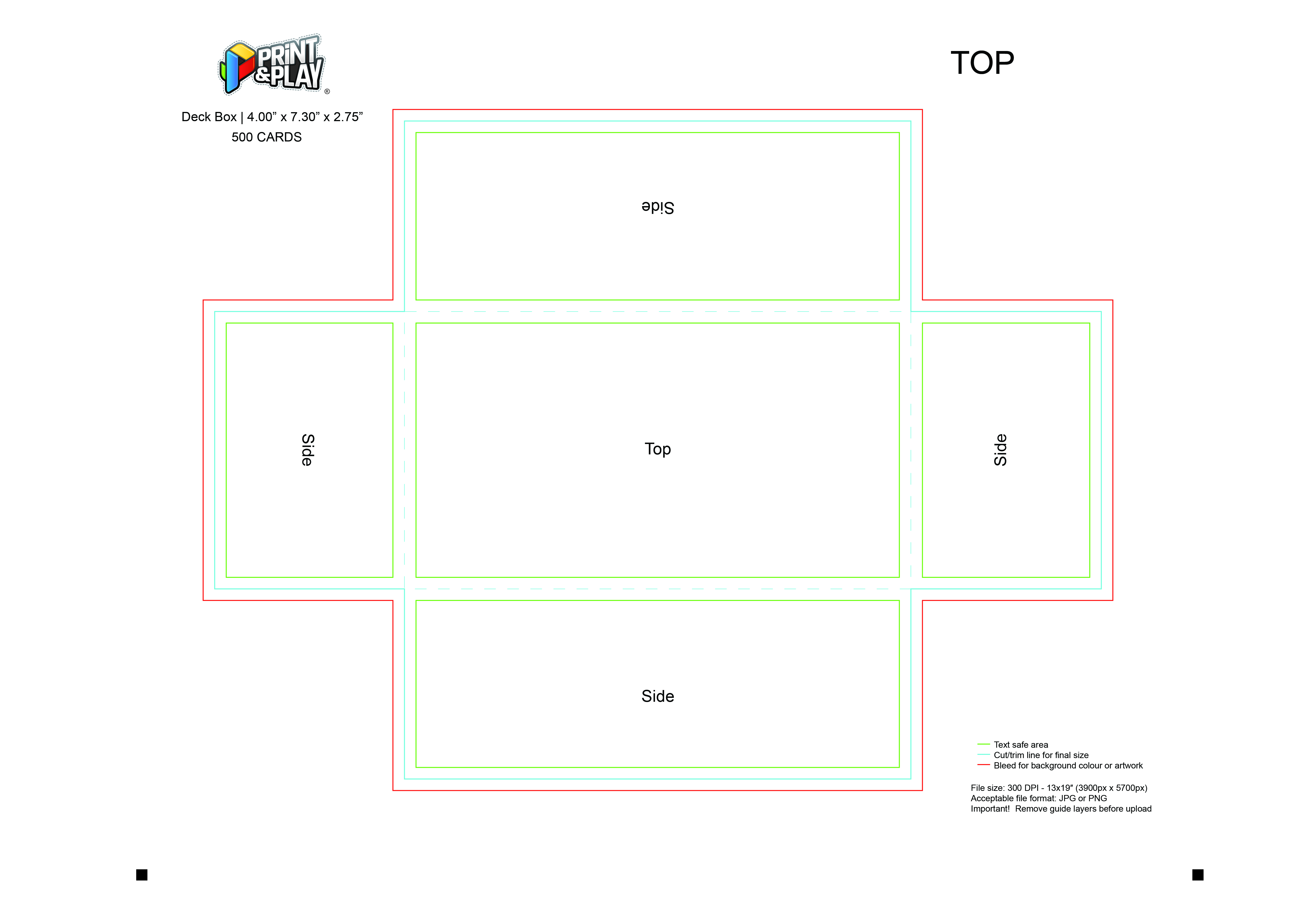 Boxes & Tuckboxes : Formatting & Templates - Print & Play With Card Box Template Generator