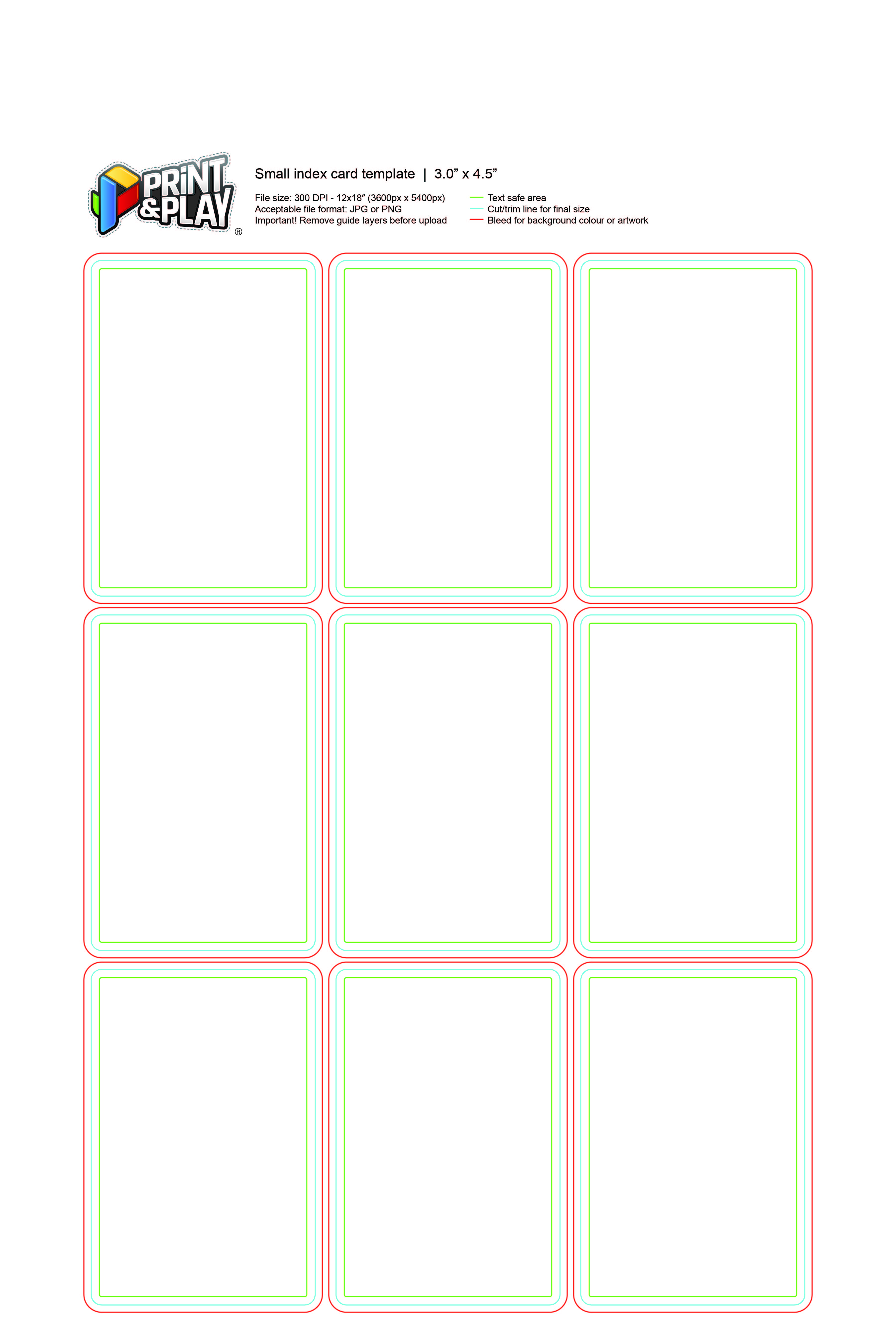 Playing Cards : Formatting & Templates - Print & Play With Blank Magic Card Template