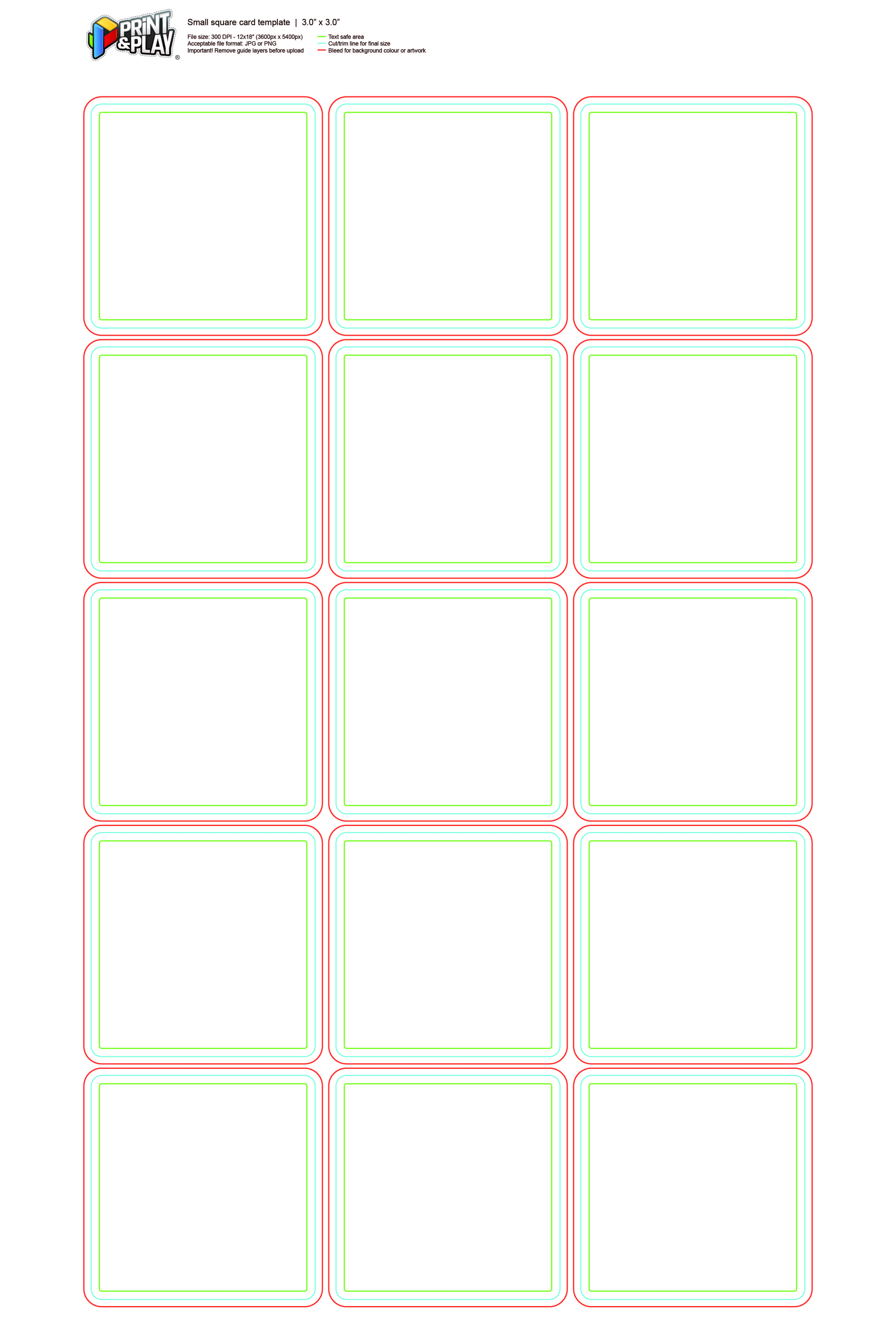 Playing Cards Size Template from printplaygames.com