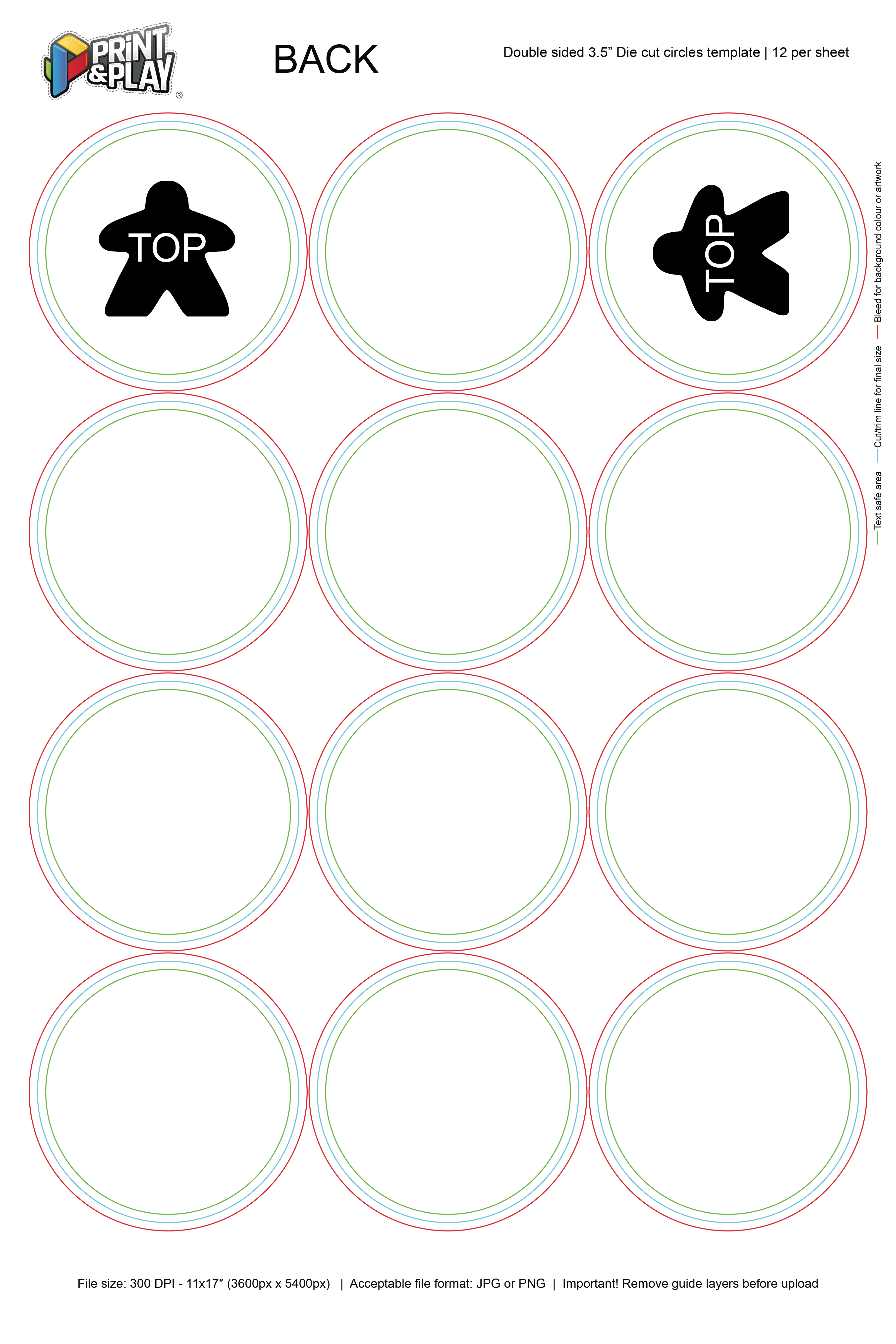 Custom Playing Card Template from printplaygames.com