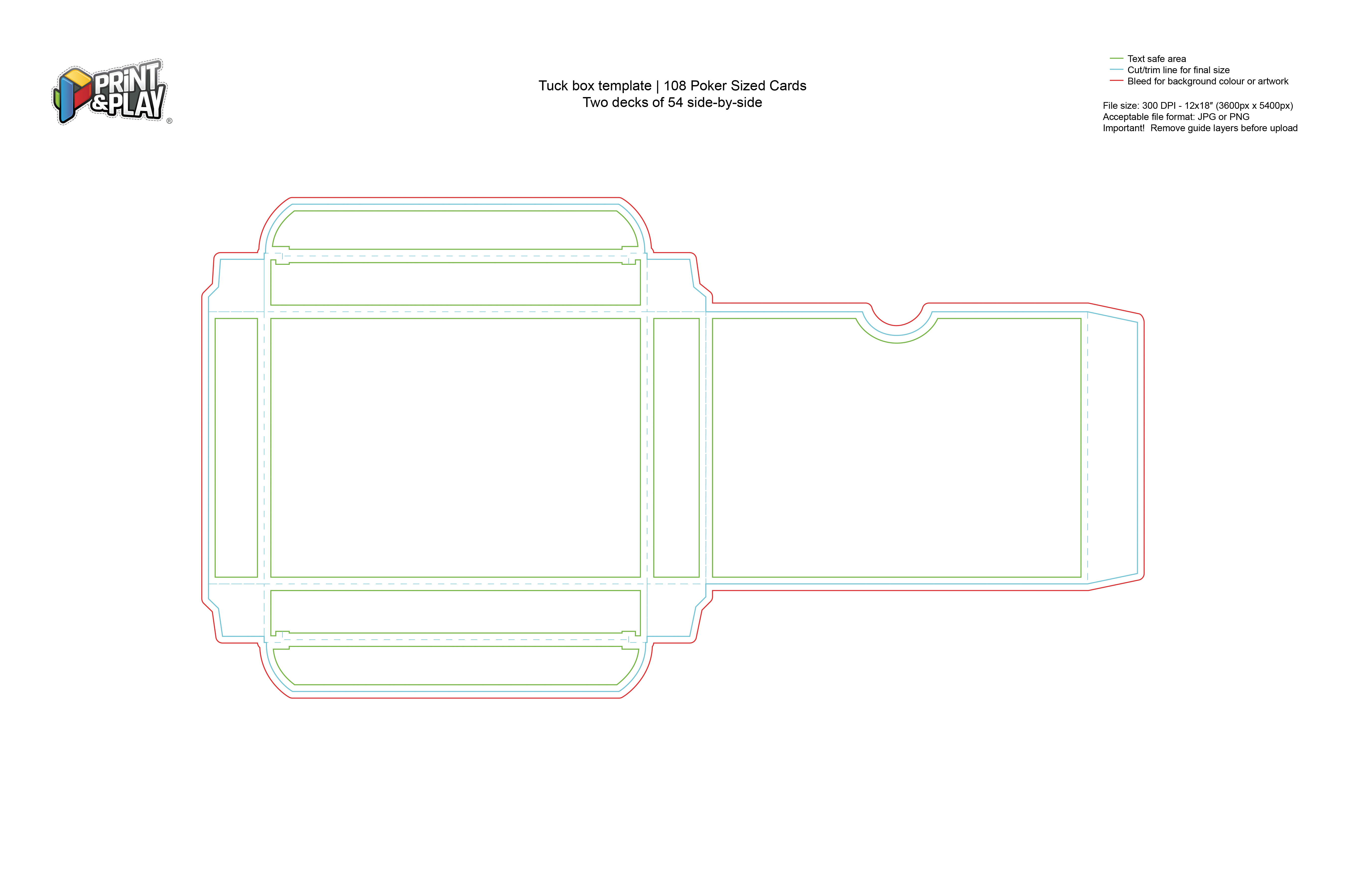 Boxes Tuckboxes Formatting Templates Print Play